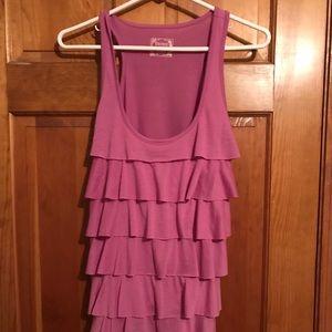 Pink/purple ruffle top!